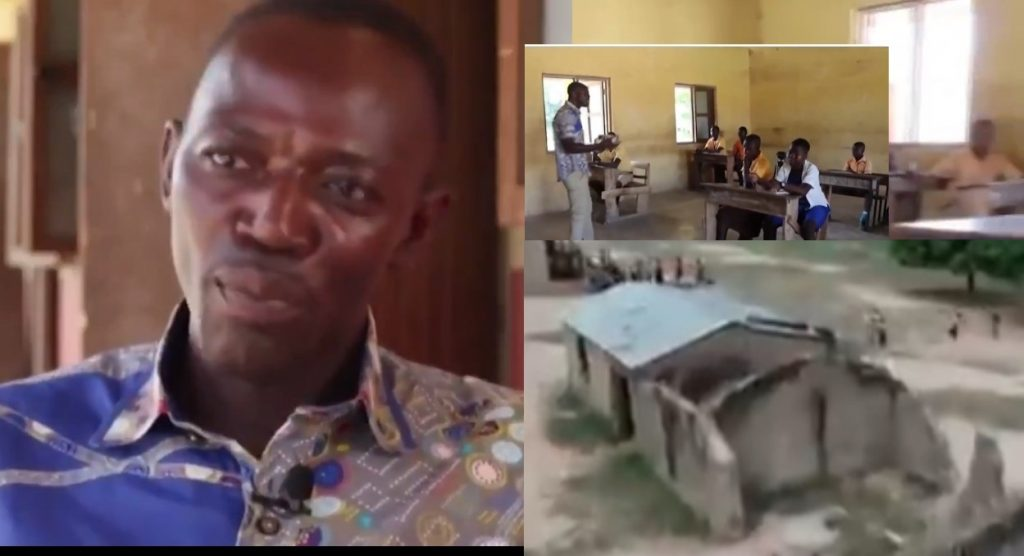 Headteacher Teaches 9 classes alone in Sissala West district -{Video}