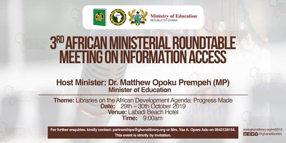 Ministry of Education 3rd African Ministerial Roundtable Meeting on Information Access