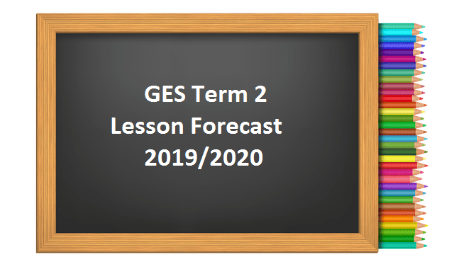 GES Term 2 Lesson Forecast 2019/2020