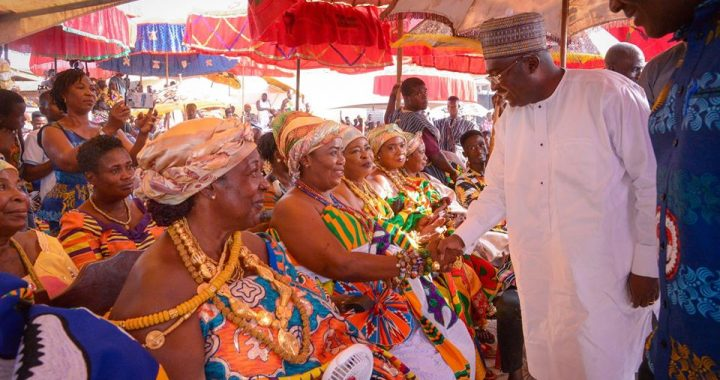 Bawumia Joins to Celebrate Ohum festival in Abiriw
