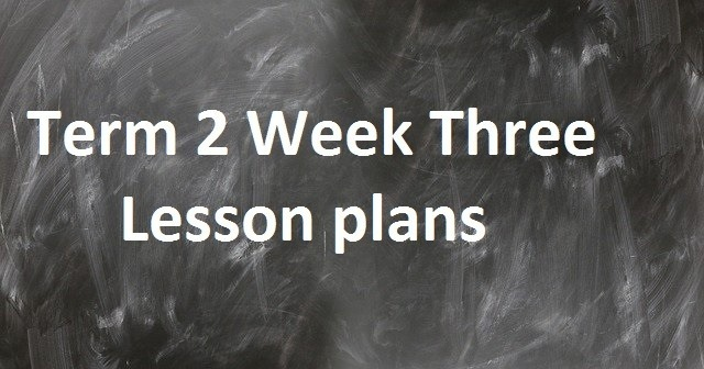 Term 2 Week Three Lesson plans