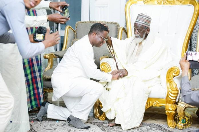 Energy Minister, John-Peter Amewu Pays Courtesy Call On National Chief Imam