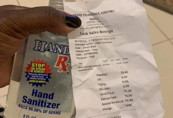 Hand Sanitizer Prices up