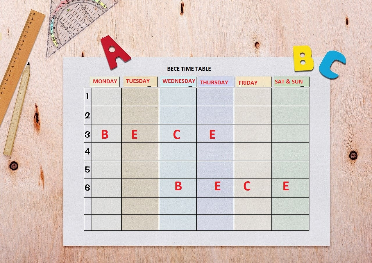 Detailed 2020 BECE Timetable