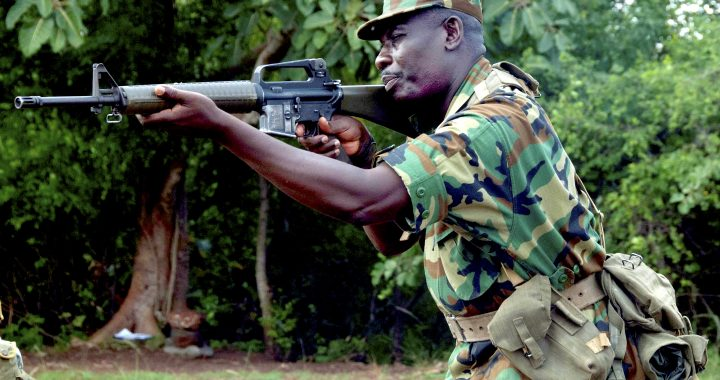 Image: Wikimedia File - Ghanaian soldier training with assault rifle.jpg