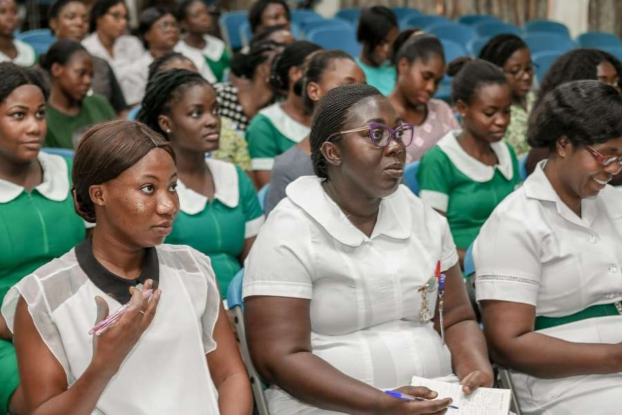 korle-bu-nurses-stage-sit-home-strike-after-one-tested-positive-for-covid-19