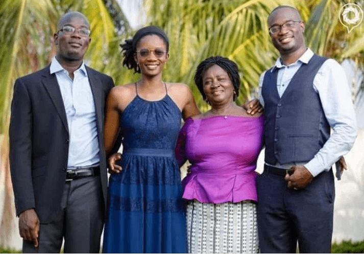 Prof. Naana Jane Opoku-Agyemang and her 3 wonderful PhD Children