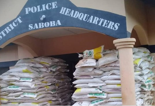 The fertilizers were offloaded in Saboba district at the blindside of the Agric officers