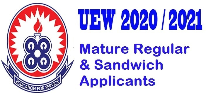 UEW online Mature Entrance Exams for Regular/Sandwich applicants