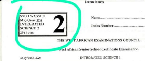 WASSCE 2020 Integrated Science Questions Leaked