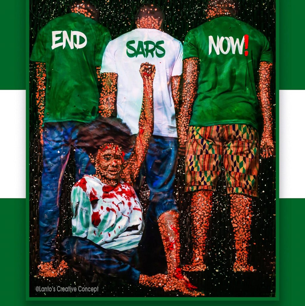 End SARS Now! Artwork by Talented Ghanaian Artist Lanto Azasime Goes Viral