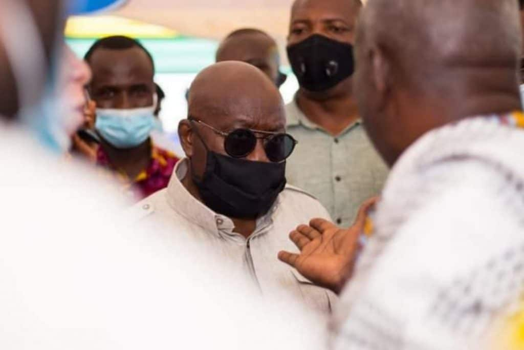 Akufo-Addo Throws a Challenge to Kpone Chief Who Walked Out On Him At A Durbar Ground (Video)