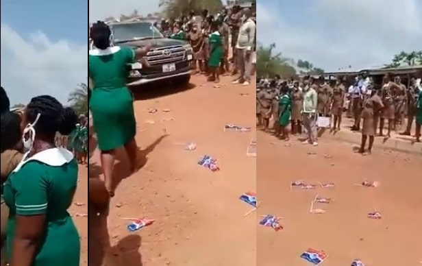 Angry Nursing Trainees Hoot At NPP Convoy